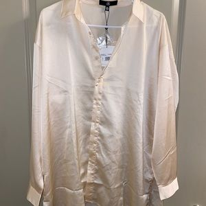 COPY - misguided oversized silk button down